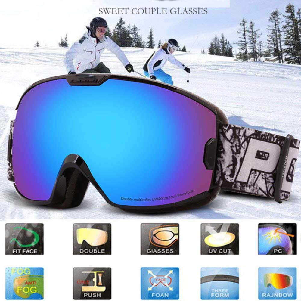 SKI-JXW Skibrille, Mit Mit Mit Doppel-Objektiv Anti-UV-Anti-Fog Snowboard Skating Goggles, Für Frauen Und Männer, Jungen Und Mädchen,F B07JNNRWG1 Skibrillen Hervorragender Stil 7d9cd4