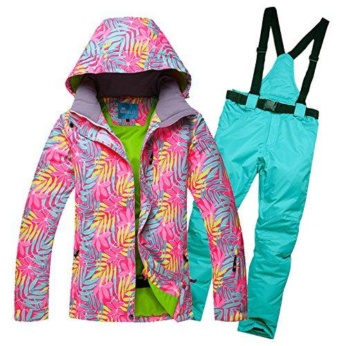 B Lake bluee,L B Lake bluee,L CXKS Ski Suit Windproof and Waterproof Winter Warm Outdoor