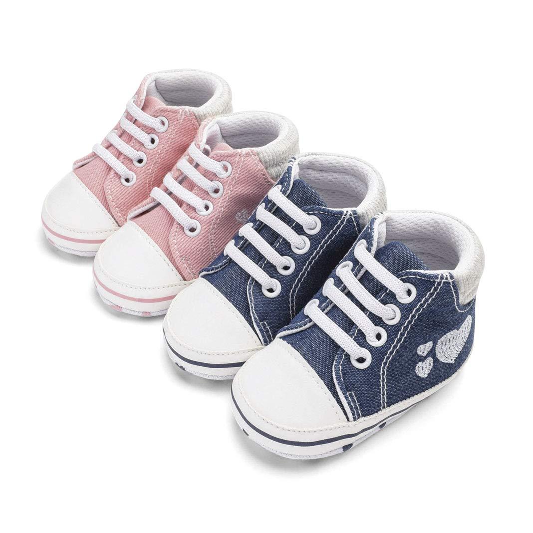 EYIIYE Baby Boys Girls Toddlers Sneakers Toddlers Anti-Slip Infant First Walkers Anti-Slip Infant First Walkers
