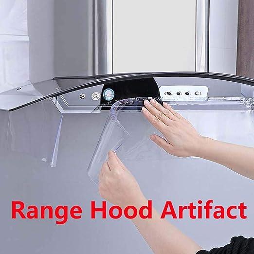 YH Campana extractora de PVC Transparente para el hogar Cubierta a Prueba de Aceite Cocina Campana Adhesiva de Doble Cara Pegatinas a Prueba de Aceite: Amazon.es: Hogar