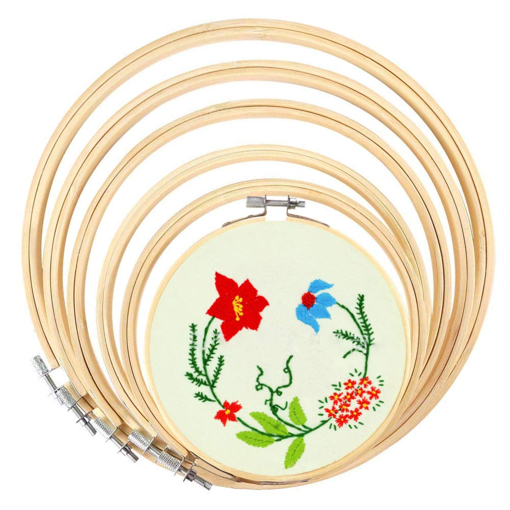 Great Set of Embroidery Hoops in Different Sizes!