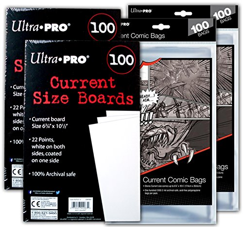 Ultra PRO Current Size Comic Board & Bag 2 Pack Bundle by SP Images