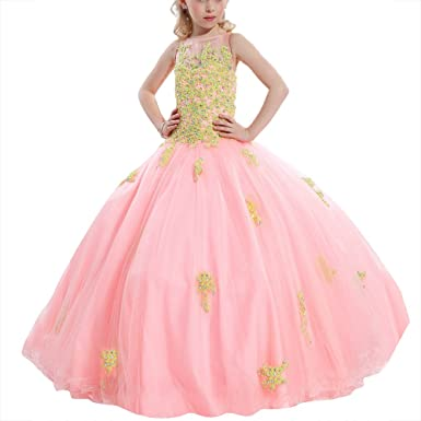 5f53d91e8 Amazon.com  SHANGSHANGXI Girls Lace Pageant Ball Gown Prom Dress ...