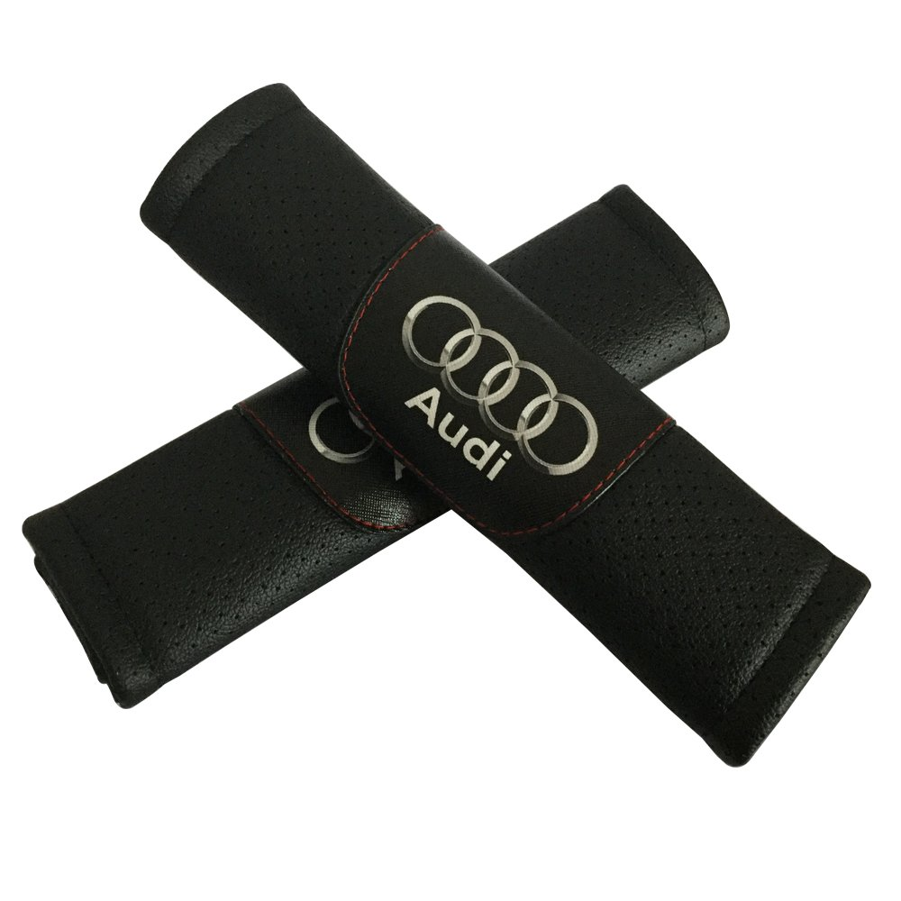 2pcs Set Audi Car Seat Safety Belt Covers Leather Shoulder Pad Accessories Fit for Audi R8 RS3 RS5 RS7 S3 S4 S5 S6 S7 S8 SQ5 TT