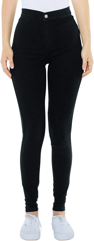 American Apparel Damen The Easy Jeans Schwarz Denim
