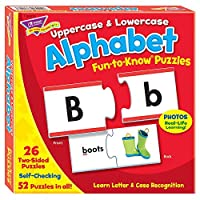 Fun-to-Know Puzzles: Uppercase & Lowercase Alphabet