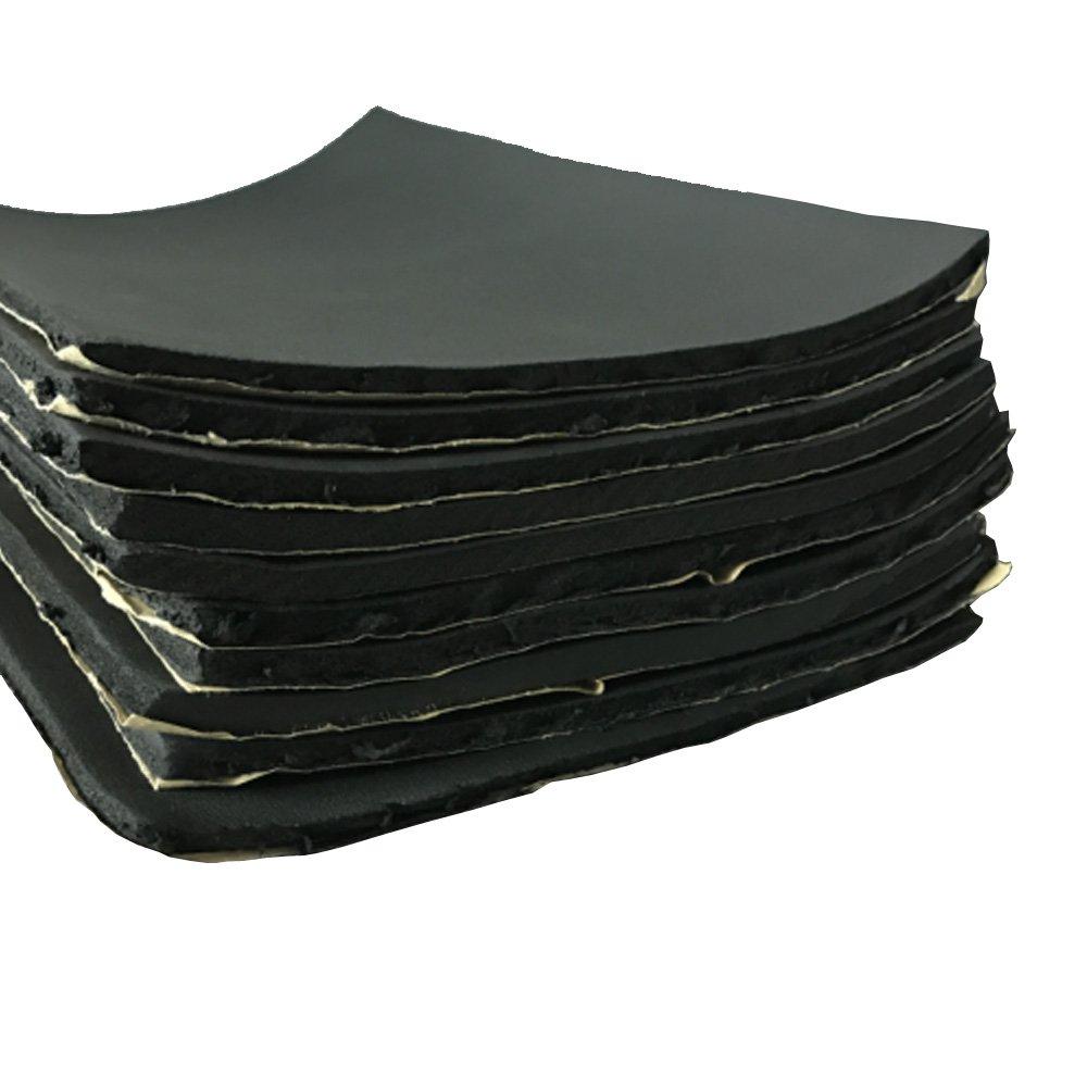 Mintice 12 X veicolo auto insonorizzazione isolamento fonoassorbente chiuso Antirombo Antivibrante Foam 5MM 30cm X 50cm