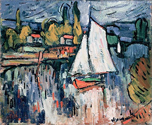 Oil Painting 'Vlaminck, Maurice De_1906_View Of The Siene', 24 x 29 inch / 61 x 74 cm , on High Definition HD canvas prints is for Gifts And Bath Room, -
