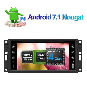Reproductor de CD y DVD estéreo para coche Android 7.1 en salpicadero, unidad de radio