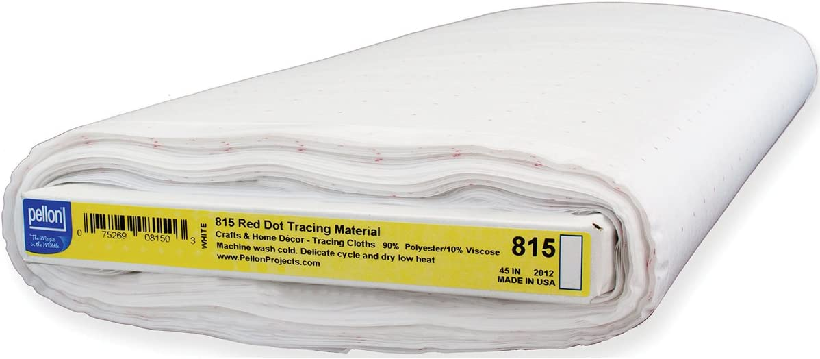 45-Inch by 25-Yard Pellon 815 Red Dot Tracing Material White