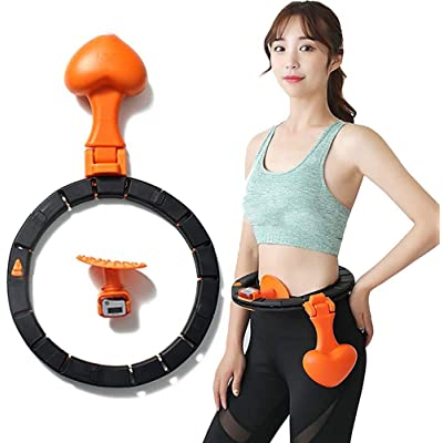 LOBKIN Hula Hoop with Jump Rope Easy Assembly Auto Counting Hula Hoop Never Full Down Home Fitness Waist Exerciser Adjustable Size Hula Hoop: Toys & Games