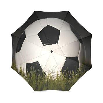 Enne paraguas fútbol plegable compacto viaje paraguas lluvia viento fácil llevar