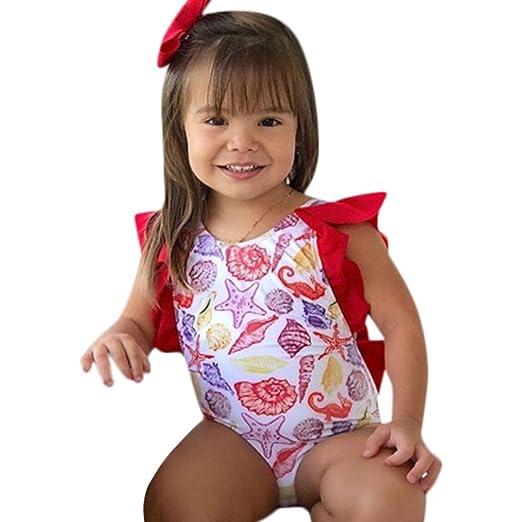 67815591b1 Baby Swimsuit, GoodLock Infant Kids Baby Girls Swimsuits Printing Bowknot  Backless Swimwear Bathing Suit (