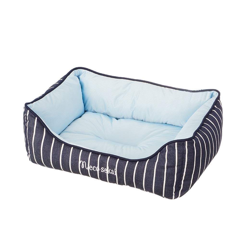 Onnear Summer Style Natural Cool Cloth Pet Bed-for Medium Large Dog, Super Soft Pet Sofa Cats Bed,Warmth and Security (bluee)