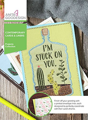 Anita Goodesign Embroidery Machine Designs CD Contemporary Cards & Liners