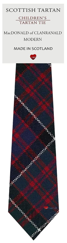 Boys Clan Tie All Wool Woven in Scotland MacDonald of Clanranald Modern Tartan I Luv Ltd