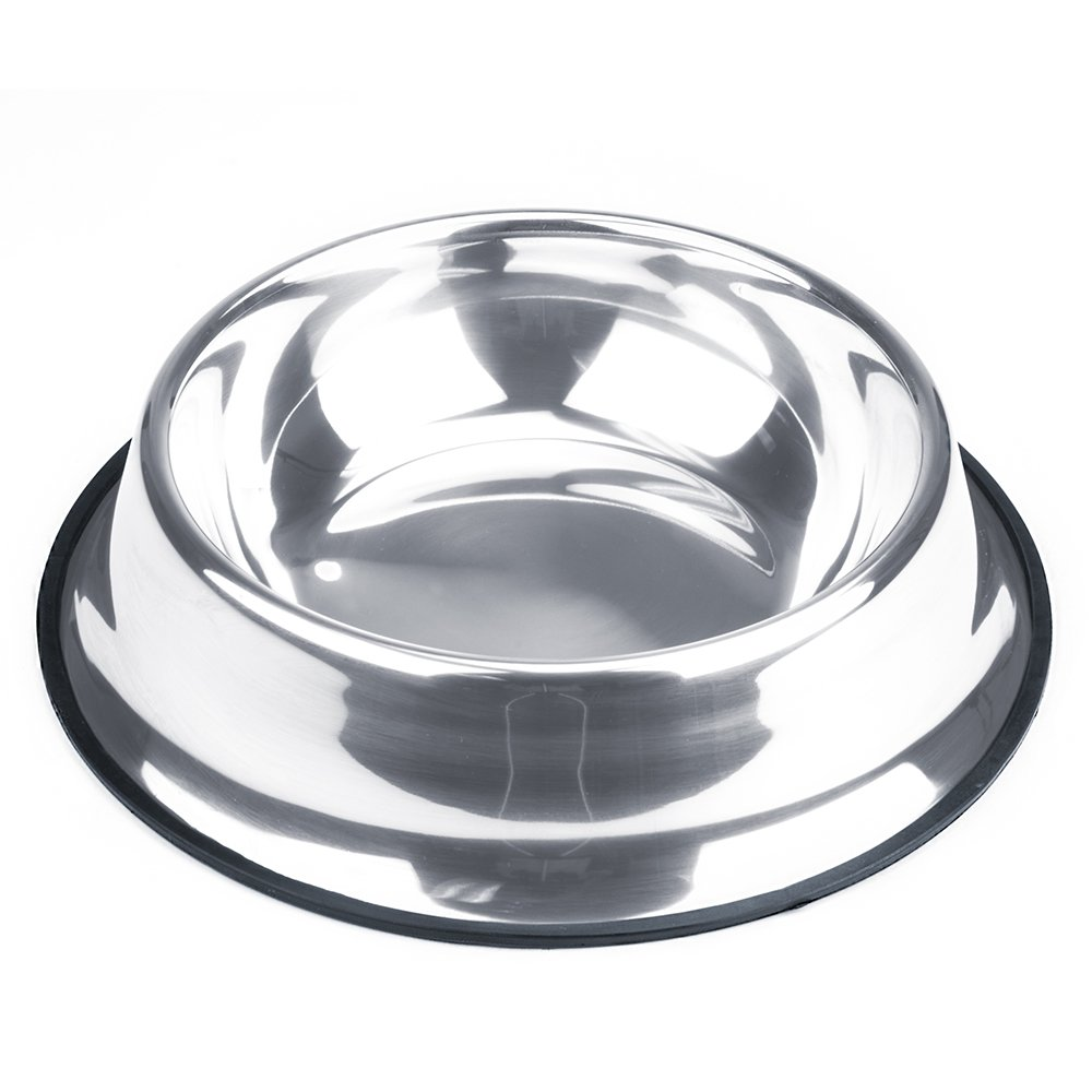 Weebo Pets Stainless Steel No-Tip Food Bowls - Choose Your Size, 4-ounce to 72-ounce (72oz. Goliath)