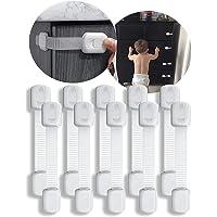 Cerraduras de Seguridad para Niños, 10 Pieza Cierre Seguridad Cajones Bebe, Kit Seguridad Bebe Bloqueo de Seguridad para…