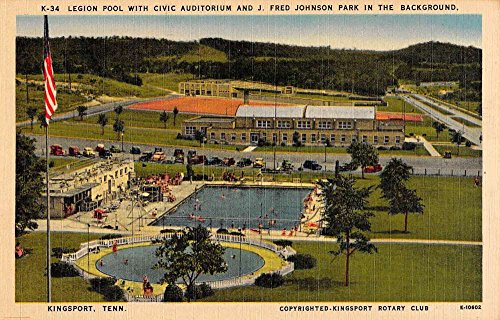 Kingsport Tennessee Civic Auditorium Legion Pool Antique (Legion Pool)