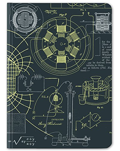 Cognitive Surplus Dark Blue Electricity and Magnetism Notebook. (Large Size, Grid & Lined, 100% Recycled)