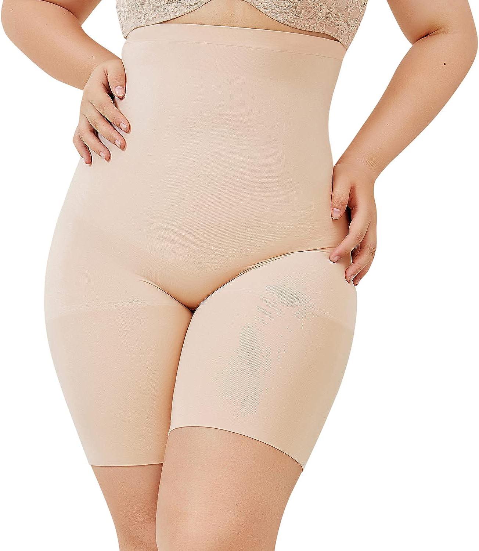 DELIMIRA Faja Reductora Ropa Interior Cintura Alta Pantalones Moldeadores para Mujer