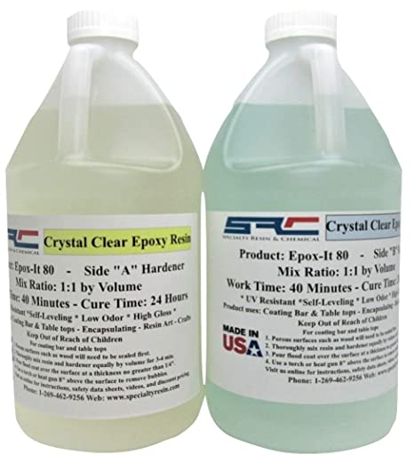 Clear Epoxy Resin for Bar Tops, Encapsulating, or Casting (1