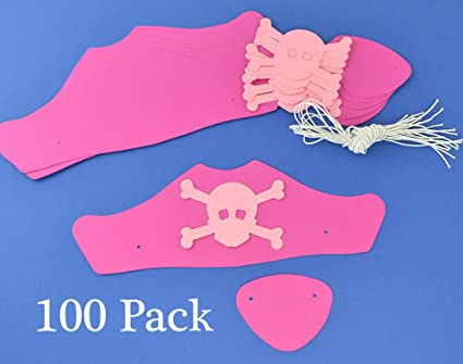 Amazon.com: 100 rosa Tarjeta Kit de gorros y parches de ...