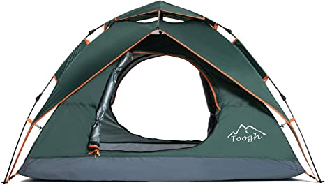 Toogh Camping Tent 2 3 Person Waterproof Dome Tents Automatic Pop Up