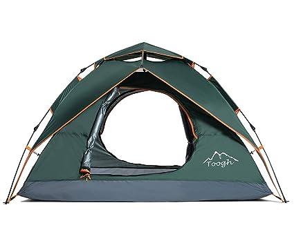 a8b310fa59 Toogh Tenda da Campeggio Automatica per 2-3 Persone - Tenda da Viaggio Four  Seasons
