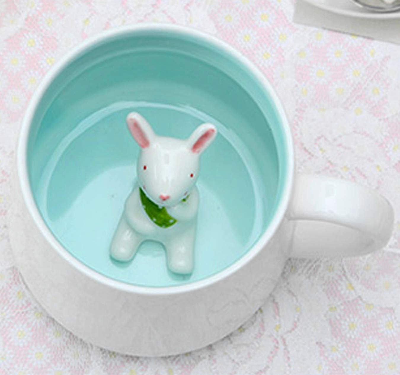 3D Ceramics Teacup Animal Coffee Mugs 13.5 OZ Dishwasher & Microwave Safe
