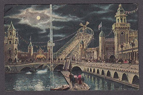 Shooting the Chutes Luna Park Coney Island NY postcard 1910s