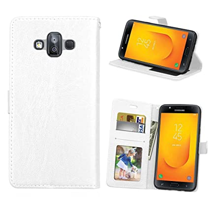 Amazon.com: WVYMX Galaxy J7 Duo Funda Cartera, [Folio Funda ...