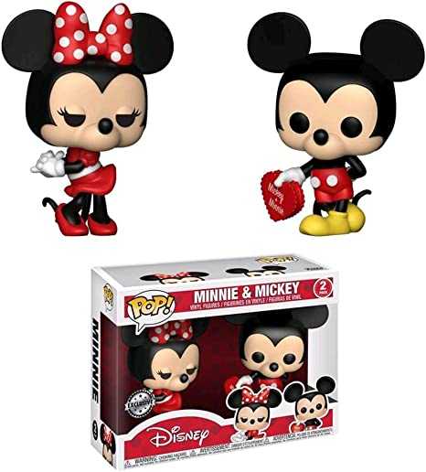 Amazon Com Mickey Mouse And Minnie Mouse Pop Vinyl 2 Pack Toys