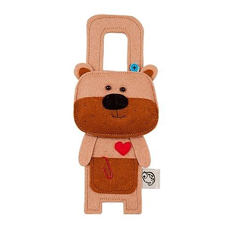 Cute fieltro colgador para puerta – diseño de oso de peluche