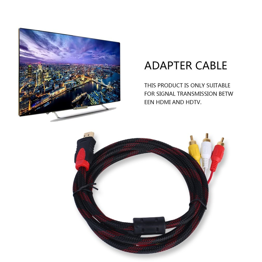 Adaptador de Cable AV de 5 pies HDMI a RCA Video Audio para PS3 PS4 Xbox One Wii FairytaleMM