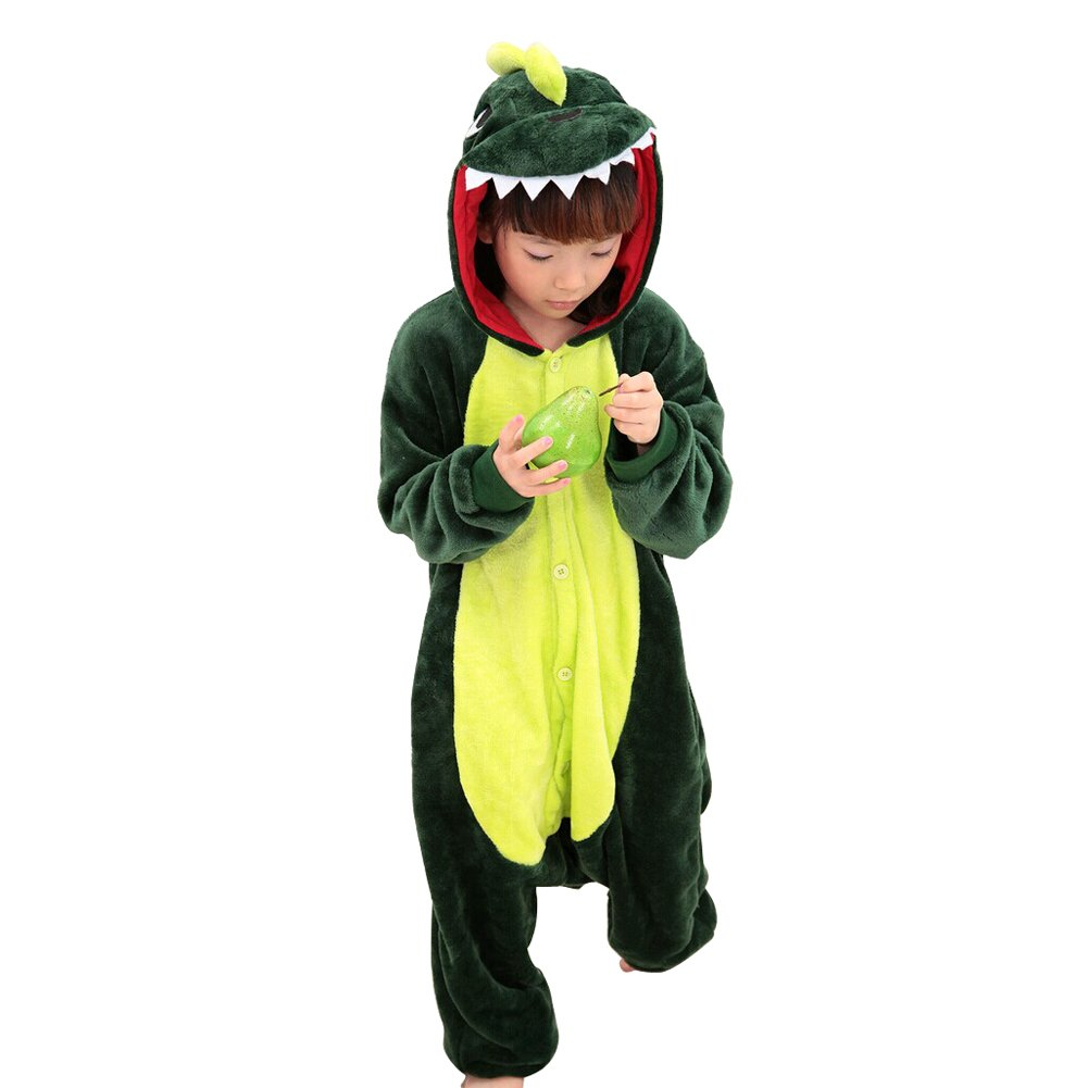 Lifenewbaby Kids Cartoon Animal pigiama flanella anime Cosplay compleanno/Carnevale/Halloween/Natale/Regalo di Capodanno