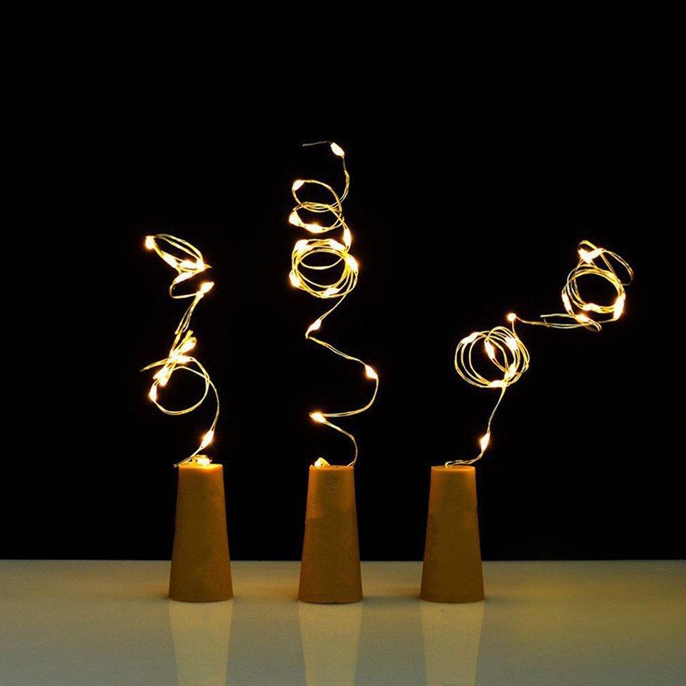 4pcs bottiglia solare Cork String Light 10 LED filo di rame Starry Fata Bottiglia