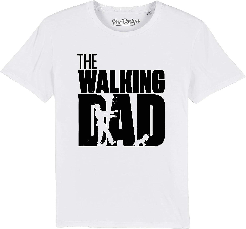 PACDESIGN T-Shirt The Walking Dad Dead f/ête des p/ères Papa Grand-p/ère
