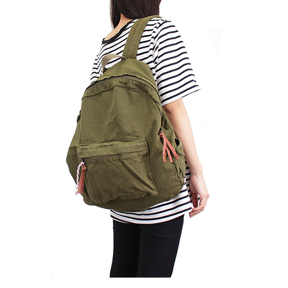 Canvas Backpacks for Women and Men, Casual Style Lightweight Backpack School Bag Travel Daypack