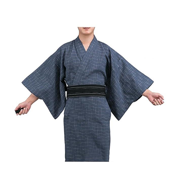 Fancy Pumpkin Kimono japonés de Yukata japonés para Hombres Vestido de Pijamas japonés para el tocador