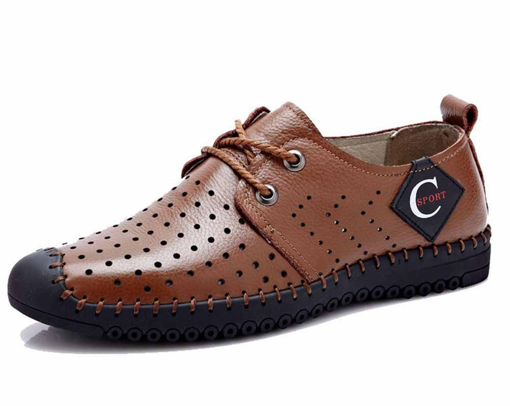 GLSHI Männer Atmungsaktive Sandalen 2018 Sommer Neue Leder Freizeitschuhe Outdoor Sandalen Leichte StrandSandale