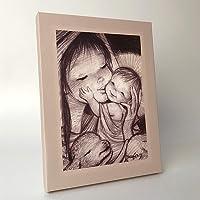 Cuadro Virgen mimitos 30x40cm. Ilustración de Juan Ferrándiz impresa en lienzo. Serie limitada y numerada. Regalo…