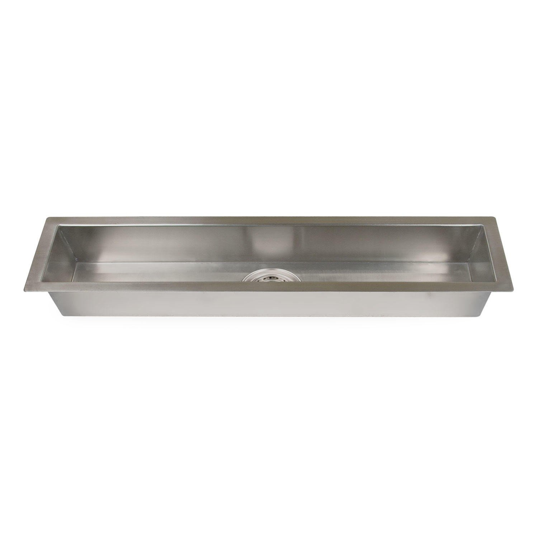 Naiture 42'' Stainless Steel Excutive Zero-Radius Trough Sink