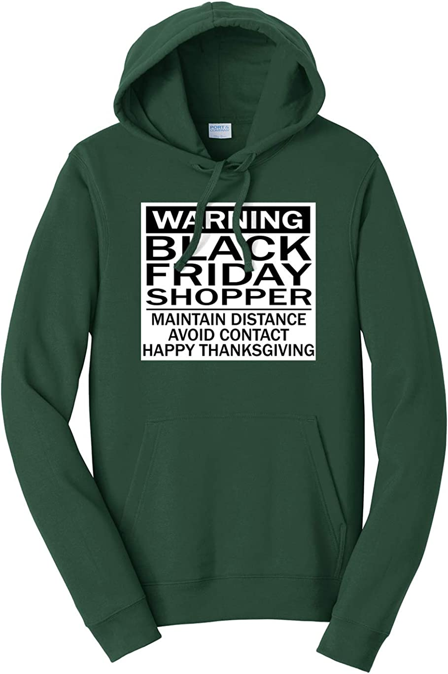 Tenacitee Mens Warning Shopper Hooded Sweatshirt