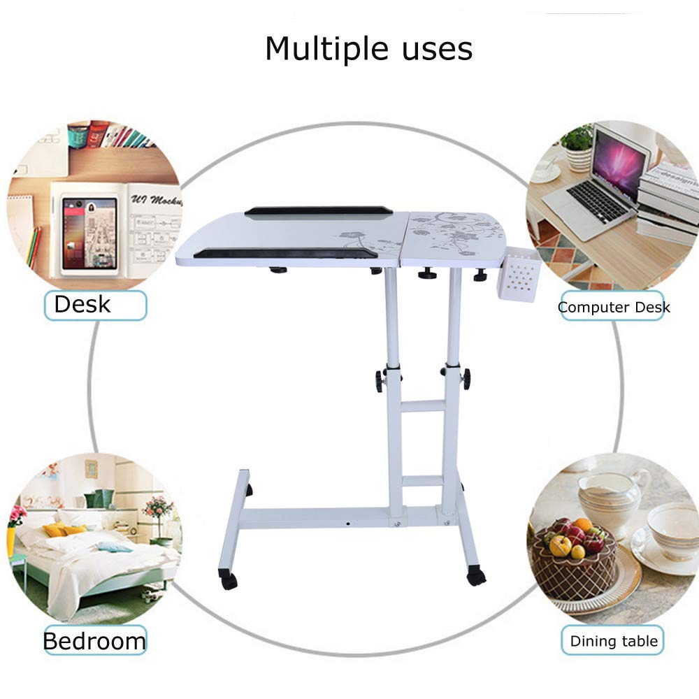 Lucoo Laptop Desk Folding Computer Desk Household Can Be Lifted and Folded 64cm40cm (White) by Lucoo (Image #10)