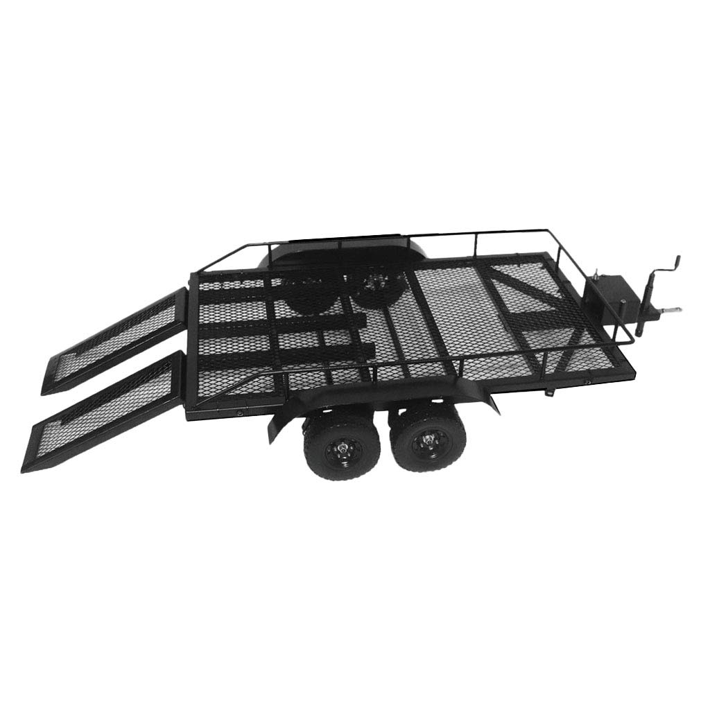 FLAMEER 1/10 RC-Kletter-LKW-Modell Heavy Duty Trailer Metal für Axial SCX10