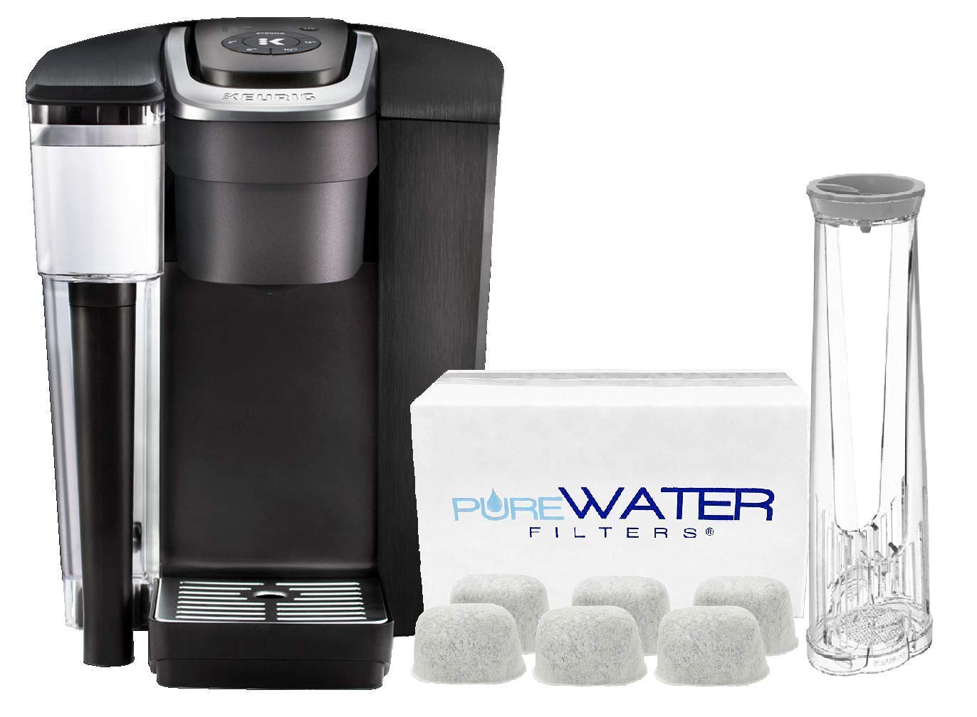 PureWater Filters bundle K1500 Commercial Single Serve Coffee Brewer by Keurig with 6 Charcoal Water Filters and Holder by PureWater Filters by PureWater Filters (Image #1)