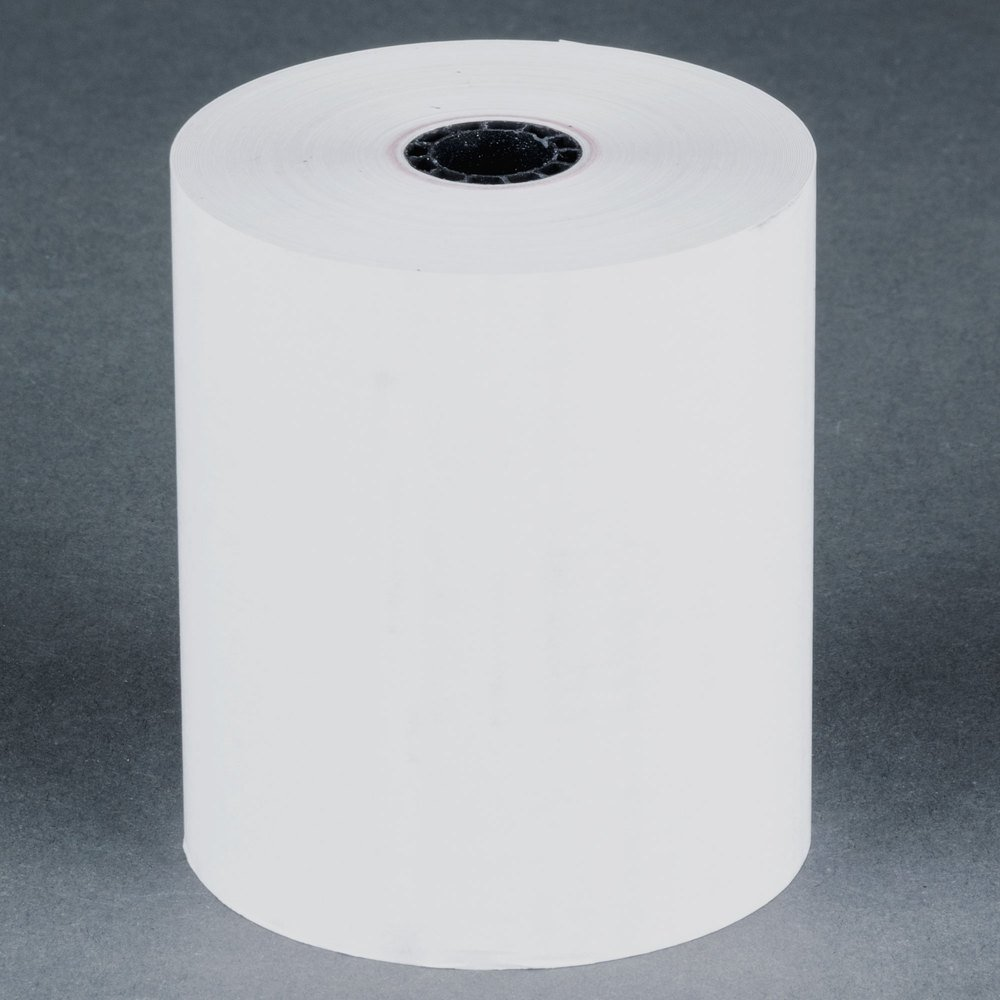 3 1/8'' Thermal Cash Register Paper Roll Tape 220' - 50 per case BPA Free Made in USA From BuyRegisterRolls.