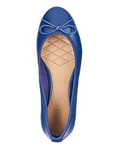 Heavenly Soles Leather Bow Ballerina Shoes Ballerinas Black Nude Blue Red D- EEE: Amazon.co.uk: Shoes & Bags
