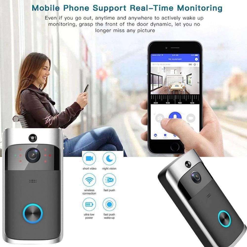 32G WiFi 720P Türklingel mit Kamera Türsprechanlage Video Tür Klingel LESHP UP